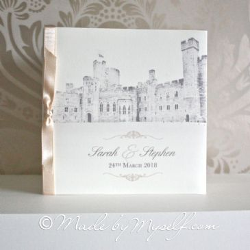 Peckforton Castle Pocketfold Wedding Invitation - Includes RSVP & Guest Information